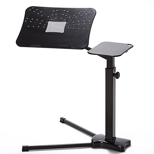 Lounge-book Black - Ergonomic Laptop Stand, supports 17-18 ...