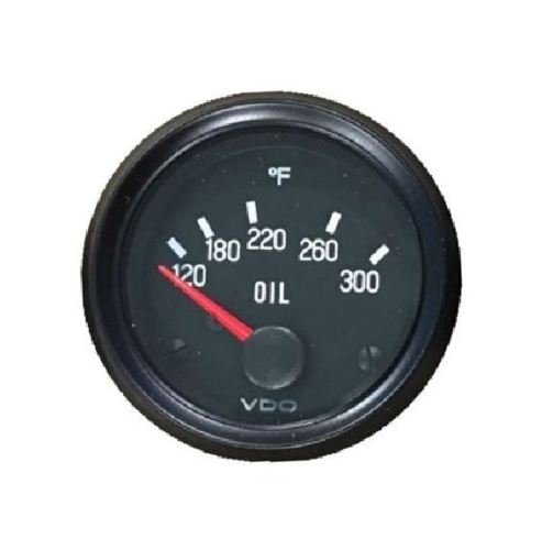 VDO Oil Temp Gauge, 300F, Genuine Cockpit 310-012, 2'/52mm, Spin-loc, w/Harness 2/52mm