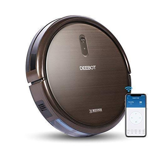 ECOVACS DEEBOT N79S Robotic Vacuum Cleaner with Max Power Suction,  Up to 120 min Runtime, Hard Floors and Carpets, Works with Alexa, App Controls, Self-Charging, Quiet