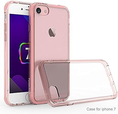 FusionTech Funda iPhone 7 Funda iPhone 8 Carcasa Gel iPhone 7/8 Bumper protección híbrida contra caídas [Protección a la Pantalla] Slim Silicona ...