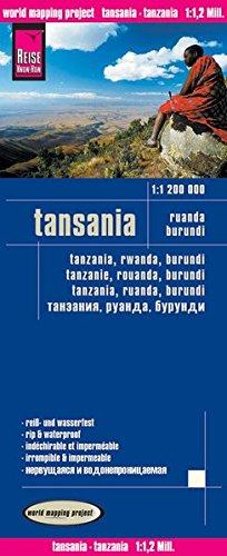 Reise Know-How Landkarte Tansania, Ruanda, Burundi (1:1.200.000): world mapping project