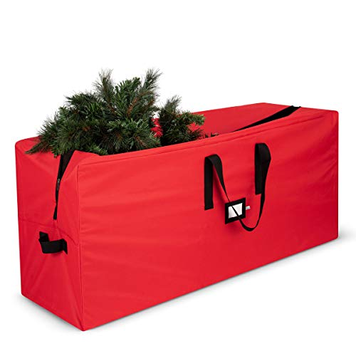 Premium Large Christmas Tree Storage Bag - Fits Up to 9 ft. Tall Artificial Disassembled Trees, Durable Handles & Sleek Dual Zipper - Holiday Xmas Bag Made of Tear Proof 600D Oxford - 5 Year Warranty -