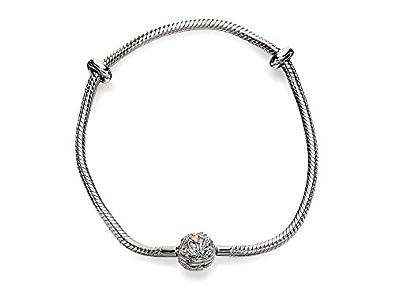 Clogau Beads Womens Silver 9ct Rose Gold Tree Of Life Milestones Bracelet - 21cm 3fTJp