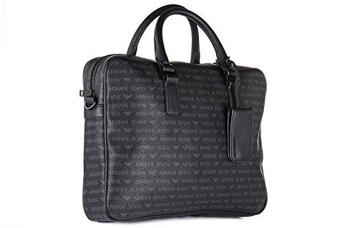Armani Jeans Briefcase Man Pvc Plastic black