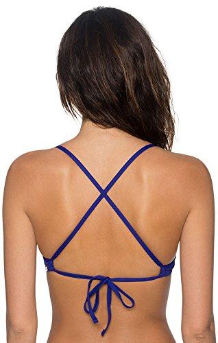 (Sunsets Womens X Back Underwire Bikini Top-60T, Sapphire, Size-E)