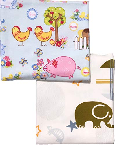 Baby Flannel Receiving Blankets Large Soft for Boy Girl Newborn | Unisex Organic Cotton Swaddling Blankets | Breathable Swaddle Wrap | Cute Baby Shower Gift | Farm Baby Animal Print (Farm Receiving Blankets)