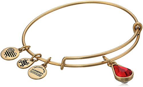 - Alex and Ani July Birth Month Charm with Swarovski Crystal Rafaelian Gold Bangle Bracelet