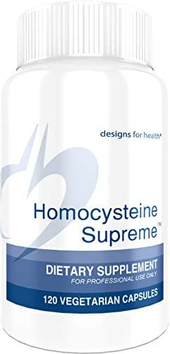 Designs for Health Homocysteine Supreme - Methylation + Homocysteine Support with Folate, B2, B6, Methylcobalamin B12, NAC + TMG (120 Capsules)
