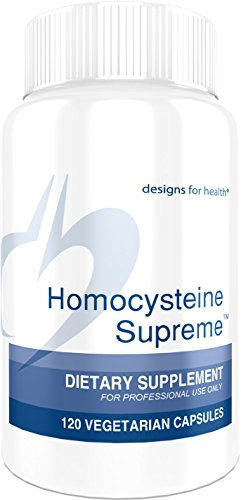 Designs for Health - Homocysteine Supreme - Defense Formula + NAC + TMG + Active Folate + Serine, 120 Capsules
