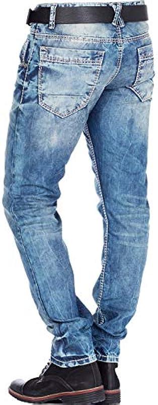 Cipo & Baxx Fashionjeans Regular Fit (niebieski), kolor: niebieski , rozmiar: 32: Odzież