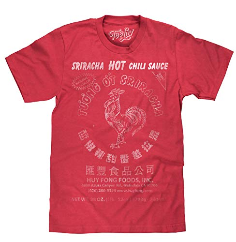 Sriracha Hot Chili Sauce Logo Red  Soft Touch Tee-x-large Red Heather for $<!--$18.97-->