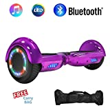 """NHT 6.5"""" Hoverboard Electric Self Balancing Scooter Sidelights - UL2272 Certified Black, Blue, Pink, Red, White (Chrome Purple)"""