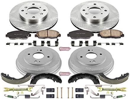 Drum and Shoe Kits Rotor Power Stop Front /& Rear KOE15106DK Autospecialty Daily Driver Pad