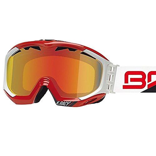 Briko K. Racy Shiny Red/Matt White Goggle Revo Metal Smoke Lens Made in Italy by Briko