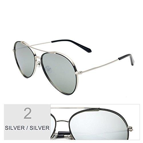 morado hombre negro aviador de de gafas Sunglasses mujer sol de Vintage sol gafas SILVER para gafas de polarizadas conducción coloridas gafas mujer SILVER sol TL qIPB1EwI