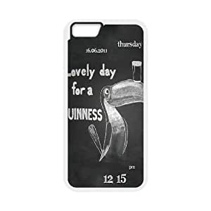 Design Cases iPhone 6 Plus 5.5 Inch Cell Phone Case White GUINNESS Poplb Printed Cover
