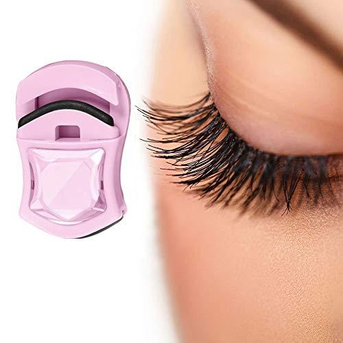 SHENLJ Mini Eyelash Curler,Portable Travel Eyelashes Clip,Car Shaped Mini Eyelash Curler Delicate Lady Women with Refill Pad Replacement