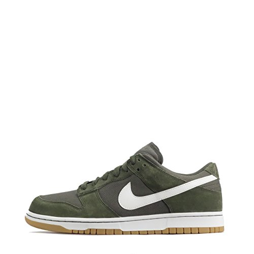 Nike Mens Dunk Low Canvas Casual Lace Up Shoes Cargo Khaki White 300
