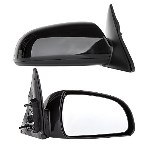 SCITOO Pair of Left Right Black Side View Power Heated Mirrors fit 06-10 Hyundai Sonata Rearview Mirrors (Pair Set) ()