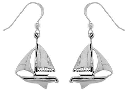 Jewelry Trends Nautical Sailboat Sterling Silver Dangle Earrings