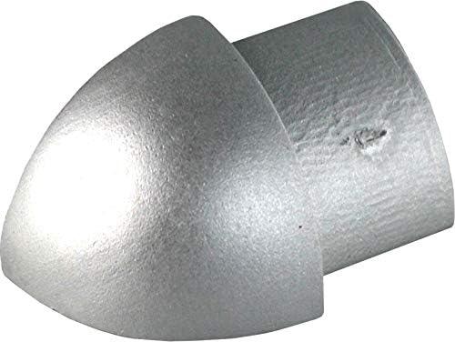Alu Viertelkreis Profil Fliesenschiene Schiene silber L270cm 8mm poliert