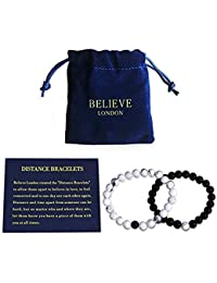 Distance Bracelets Couples Relationship Strong Elastic Friendship His Hers King Queen