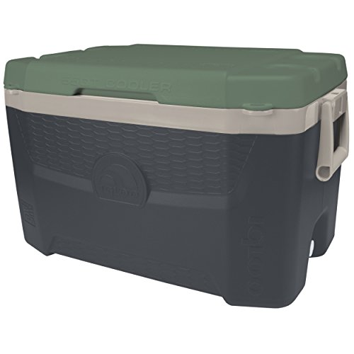 - Igloo Sportsman Quantum Cooler, 55 quart/52 L, Tactical Gray/Sand Dune Tan/Field Service Green