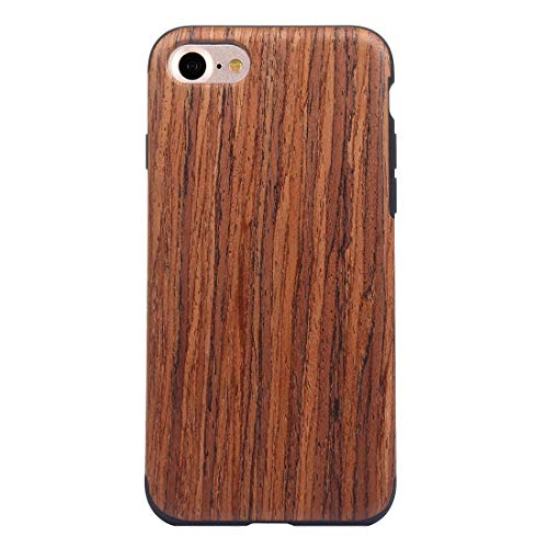 QGT for iPhone 8 & 7 Teak Wood Grain Paste Skin Soft TPU Protective Case (Color : Color2)