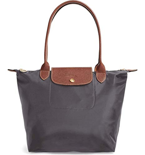 Longchamp 'Medium 'Le Pliage' Tote Shoulder Bag, Gunmetal