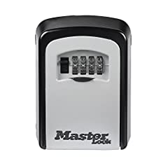 The Master Lock 5401D Wall Mount Lock Box features a 3-1/4in (83mm) wide metal body for durability. The wall mount design offers permanent installation. Set your own 4-digit combination for keyless convenience and increased security. The shut...