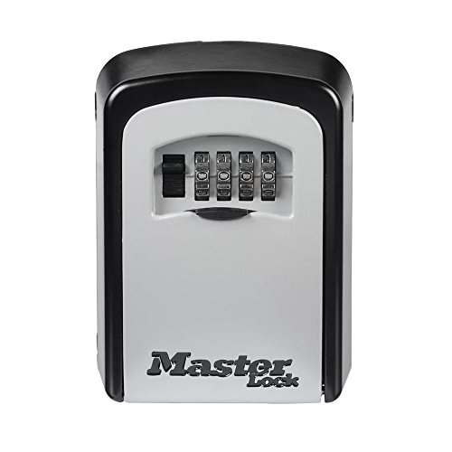 Master Lock 5401D Set Your Own Combination Wall Mount Lock Box, 5 Key Capacity, Black