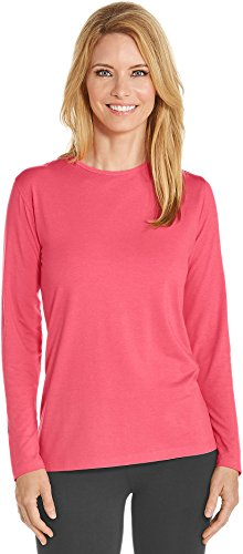 Coolibar UPF 50+ Women's Long Sleeve T-Shirt - Sun Protective (Large- Bright Coral) (Uv Protection Clothing Women compare prices)