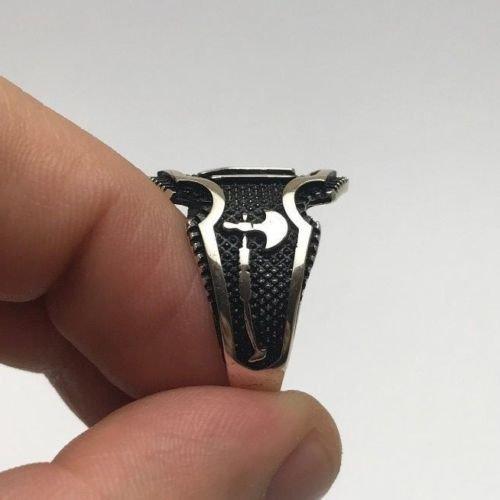 argunjewellery Ertugrul Dirilis Kayı IYI Ax Sword Nice Motif 925K