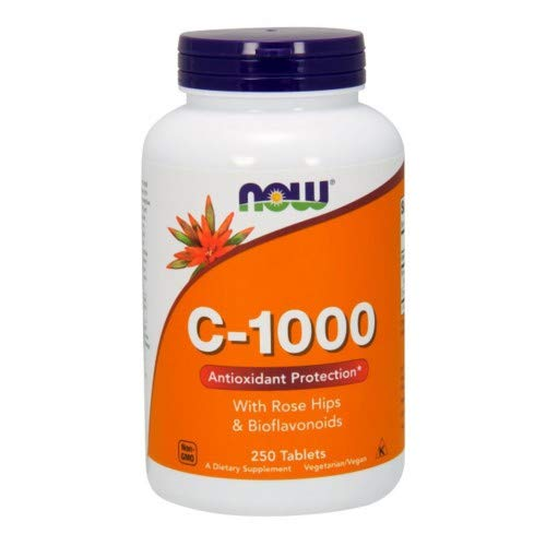 Vitamin C-1000, 250 Tabs by Now Foods (Pack of 3)