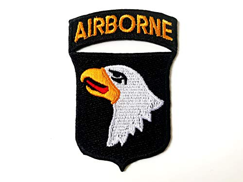 Tyga_Thai Brand 101st Airborne Screaming Eagle DIY Sewing on Iron on Embroidered Applique Patch (IRON-101ST-AIRBORNE) ()