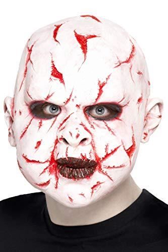 Smiffys Unisex Scar Face Mask, White, One Size,