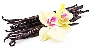Wild Vanilla Beans, Single-Origin Grade A Black Gourmet Vanilla Beans (3 vanilla beans)