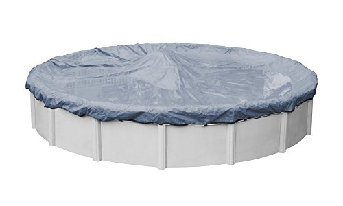 (Pool Mate 3412-4-PM Commercial-Grade Winter Round Above-Ground Pool Cover, 12-ft, Slate Blue)