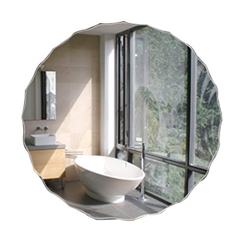 Bevelled Bathroom Mirror 60x60cm Premium Quality Frameless Makeup Shaving Home Hallway Mirror -