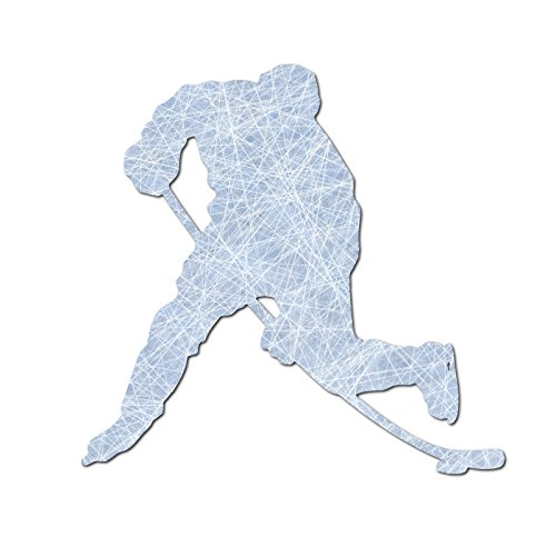 Hockey Silhouette - Hockey Player Silhouette Color Vinyl Sports Car Laptop Sticker - 6