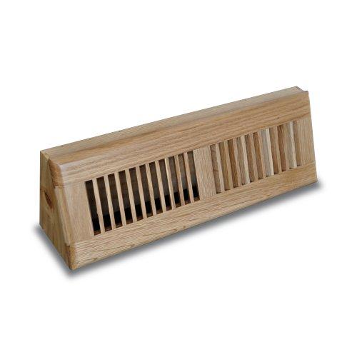 Truaire C168-OBF 15-Inch(Duct Opening Measurements) Solid Oak Floor Baseboard Supply 15-Inch Solid Oak Baseboard Diffuser, Natural Oak (Base Vent Wood Register)