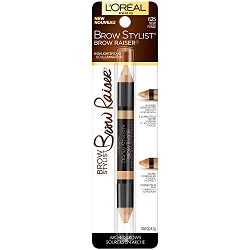 L'Oréal Paris Brow Stylist Brow Raiser Highlighter Duo, Medium, 0.16 oz. (Eyebrows Highlighter)