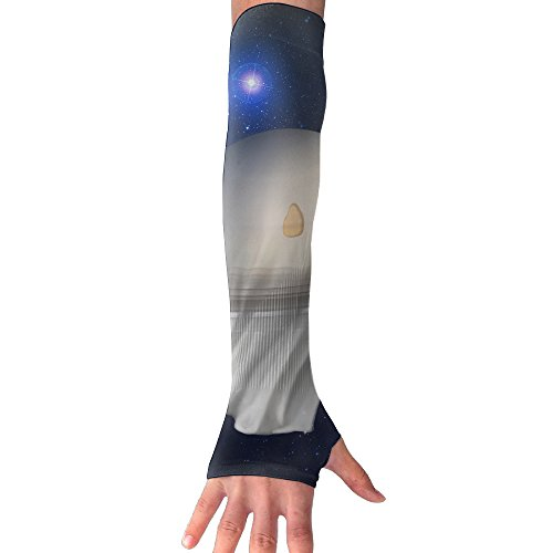 Halloween Ghost Galaxy UV Sun Protection Stretchy Cooling Forearm Arm Sleeves Warmers Cuffs Long Sleeve Glove Outdoor (Manziel Johnny Halloween)