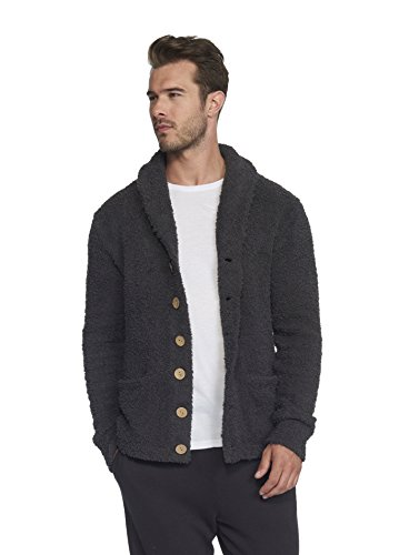 chic Mens Cardigan - Carbon, Extra Large ()