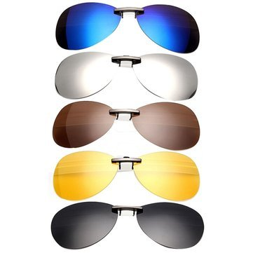 Sunglasses & Sports Glasses - Polarized Clip On Sun Glassess Sun Glassess Driving Night Vision Lens - Polarized Clip On- - Friday Kid Sunglasses Night