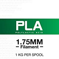 HATCHBOX 3D PLA-1KG1.75-BLK PLA 3D Printer Filament, Dimensional Accuracy +/- 0.05 mm, 1 kg Spool, 1.75 mm, Black from HATCHBOX