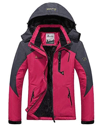 Jacket Rosa Invernali Chic Cerniera Cute Sci Autunno Cappotto Giacche Lunga Outerwear Impermeabile Manica Donna Joggers Outdoor Fashion Giacca Antivento Casuali Camping Con zBqcxwF1
