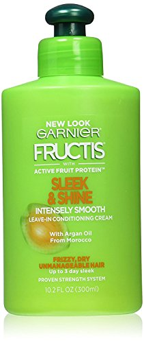 Smooth Shine Cream - Garnier Fructis Sleek and Shine Intensely Smooth Leave-In Conditioning Cream, 10.2 Fluid Ounce