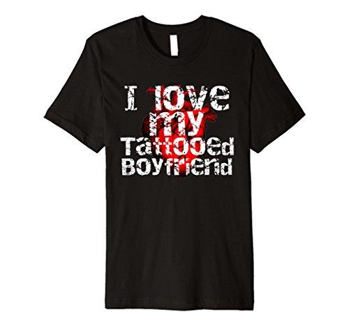I Love My Tattooed Boyfriend Tattoo Lover Graphic T-Shirt