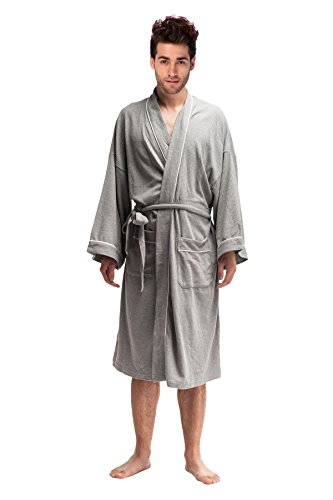 DandyChic Men s Kimono Cotton Robes Lightweight Spa Robe ... dfbcfe0ab